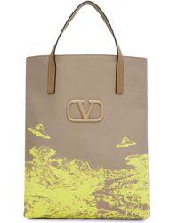 Valentino Cabas beige UFO Garavani edition Undercover - Neutre