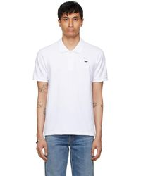 Maison Kitsuné - ホワイト & ネイビー Fox Patch Classic ポロシャツ - Lyst