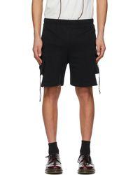 Youths in Balaclava Ssense Exclusive Black Fleece Shorts