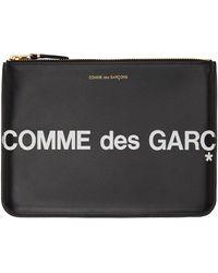 Comme des Garçons - ブラック ラージ Huge ロゴ ポーチ - Lyst