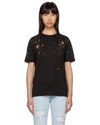 Stella McCartney - Black Cut-out Stars T-shirt - Lyst