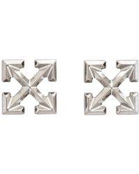Off-White c/o Virgil Abloh Silver Mini Arrows Earrings - Metallic