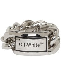 Off-White c/o Virgil Abloh シルバー Sweetheart リング - ブラック