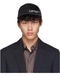 Lanvin ブラック ロゴ キャップ