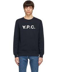 A.P.C. - ネイビー Vpc スウェットシャツ - Lyst