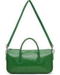 Marge Sherwood Petit sac vert froissé à glissière