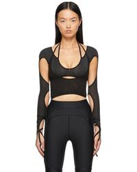 Hyein Seo Halter Long Sleeve T-shirt - Black