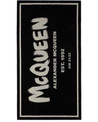 Alexander McQueen ブラック Mcqueen ビーチ タオル
