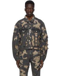 we11done - Black Denim Destroyed Jacket - Lyst