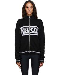 Versace ブラック And ホワイト ロゴ セーター
