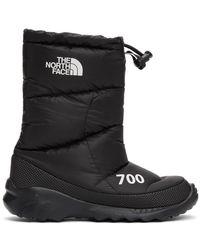 The North Face ブラック ダウン Nuptse 700 ブーツ