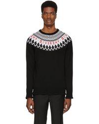 Givenchy - Black Merino Wool Sweater - Lyst