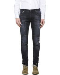 Belstaff - Black Distressed Tattenhall Jeans - Lyst