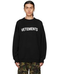 Vetements ブラック ロゴ セーター