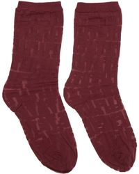 Fendi - Red Forever Socks - Lyst