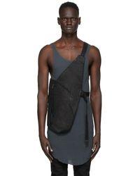 Boris Bidjan Saberi Black Vinyl Cotton Vest Bag