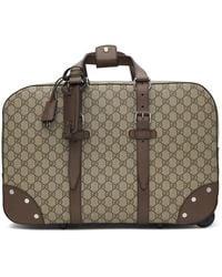 Gucci Beige Wheeled GG Supreme Carry-on Weekender Bag - Multicolor
