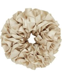 Maryam Nassir Zadeh Beige Silk Carnation Scrunchie - Natural