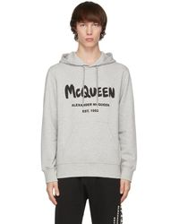 Alexander McQueen - グレー Graffiti フーディ - Lyst