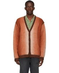 AWAKE NY Brown Mohair Ombre Cardigan