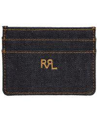RRL インディゴ デニム カード ケース - ブルー