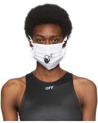 Off-White c/o Virgil Abloh ホワイト & ブラック Hand Off マスク