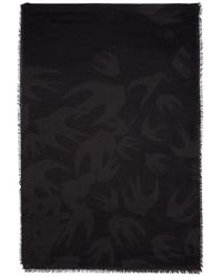 McQ - Black And Grey Swallow Cut Up Scarf - Lyst