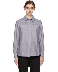Acne Studios - Blue And White Liur Stripe Shirt - Lyst