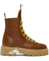 Off-White c/o Virgil Abloh - Brown Hiking Boots - Lyst
