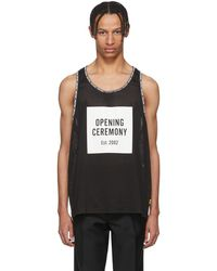 Opening Ceremony - Black Limited Edition Mesh Logo Box Tank Top - Lyst