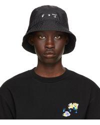 Off-White c/o Virgil Abloh - Black Logo Bucket Hat - Lyst
