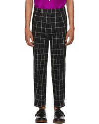 Paul Smith - Black And White Check Pleated Trousers - Lyst