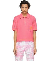 Phlemuns ピンク ロゴ ポロシャツ