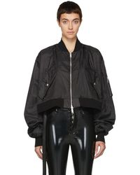 Unravel - Black Ghost Reconstructed Chop Bomber Jacket - Lyst