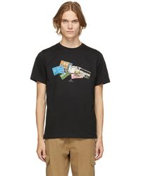 PS by Paul Smith ブラック Credit Card T シャツ