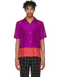 Paul Smith - Purple And Red Silk Shirt - Lyst