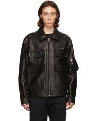 1017 ALYX 9SM Black Leather Police Jacket