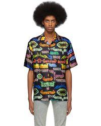 Gucci - ブラック シルク メタル シャツ - Lyst