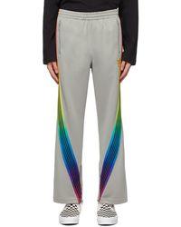 Needles Awge エディション グレー Rainbow トラック パンツ
