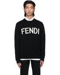 Fendi ブラック ロゴ セーター