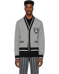 Dolce & Gabbana - ブラック And ホワイト ハウンドトゥース カーディガン - Lyst