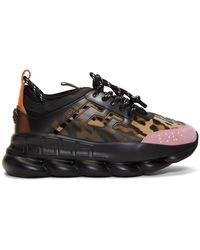 Versace - Baskets noires Chain Reaction - Lyst
