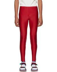 Gucci Red Logo Band Lounge Pants