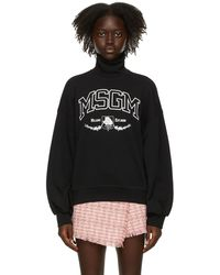 MSGM - ブラック College タートルネック - Lyst