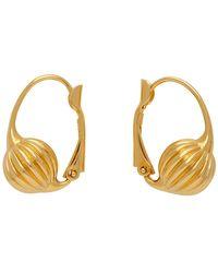 Lanvin Gold Arpege Sleeper Earrings - Metallic