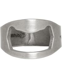 Off-White c/o Virgil Abloh - Silver Utility Ring - Lyst