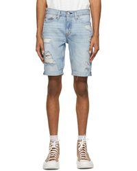 Levi's Blue 511 Slim Cut-off Shorts