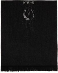 Givenchy ブラック Free ロゴ マフラー