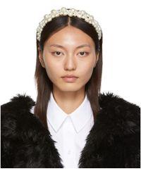 Simone Rocha White Cluster Baroque Hairband - Multicolor
