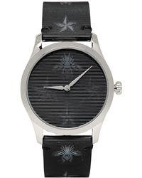 Gucci Montre argentee Hologram Bee G-Timeless - Noir